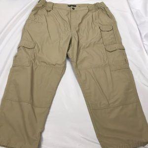 5.11 tactical series cargo pants 40x30 tan